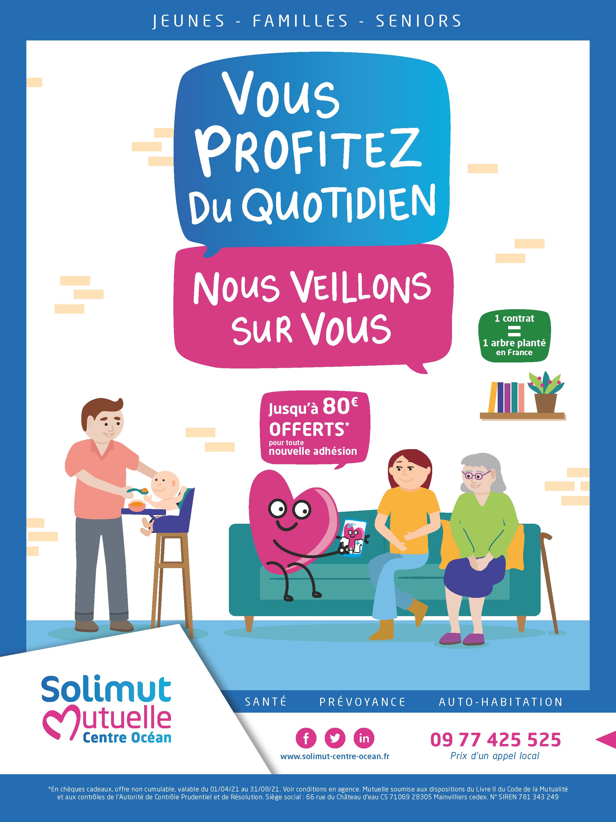 Affiche campagne jeunes familles seniors
